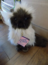 Vtg Ganz Heritage Collection Cozy Cat Cream & Brown Fluffy Himalayan plush Kitty