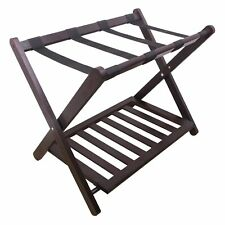 Bamboo Foldable Home Suitcase Backpacks Luggage Rack Stand w/Shoe Shelf