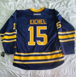 JACK EICHEL Signed Reebok Jersey Buffalo Sabres Dave and Adams COA JSA AUTHENTIC