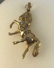 9ct Gold Movable Horse Pendant 6.1cms  Drop inc Bale 17.6g  NEW