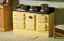 Dolls House Miniature 1 12th Scale Furniture Kitchen Resin Large Cream Aga Stove