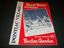 1959 NOV ORIGINAL BOSTON GARDEN BOSTON BRUINS  PROGRAM VS TORONTO MAPLE LEAFS