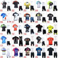 Men Cycling Jerseys Bib Shorts Kits Breathable Bicycle Clothing Bike Cycle Wear