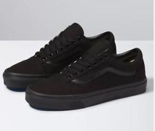 VANS OLD SKOOL Black Iconic Leather Stripe Canvas Low Top Sneakers 8.5M 10W GUC