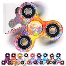 Tri-Spinner Fidget Toy Ceramic EDC Toy Hand Finger Spinner Desk Stress Kids Gift