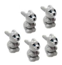 LEGO 5 pcs NEW Friends LIGHT GREY BUNNY RABBIT Pet Animal Minifigure 41039 41022