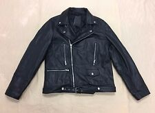 ASOS Men's Reclaimed Vintage Leather Biker Jacket Black DL7 Large NWT