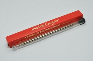 """MUST DE CARTIER Ballpoint Refill Pen Replacement VXRB0211 Black """"F"""""""