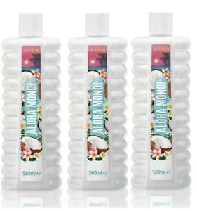 3 X Avon Bubble Bath Aloha Monoi 500ml ~ Nice Sweet Fragrance