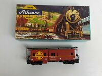 Athearn 1206 HO Scale Santa Fe Bay Window Caboose ATSF 999973 Red Vintage S6-1