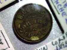 San Francisco CA  Brun Cordes -5 cent drink- 1898 - Saloon  Token