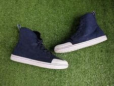 Dr Martens Blue Canvas / Poly Fur High Top Shoes / Trainers Size Uk 5 Worn Once