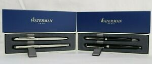Waterman Rollerball Fine Point & Ballpoint Medium Point Pen Gift Set Black Ink