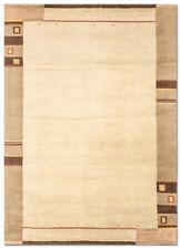 Tapis beige à motif Bordé pour la maison en 100% laine