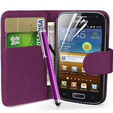 Wallet Flip Case Pouch PU Leather Cover For Samsung I9070 Galaxy S Advance