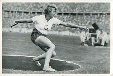 78. Jadwiga Wajs Wajsowna Athletics Discus throw POLAND OLYMPIC GAMES 1936 CARD