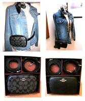NWT COACH Black Leather or Signature C Crossbody Belt Bag, Fanny Pack $298 39657