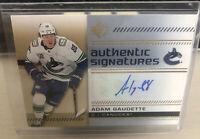 2019-20 Upper Deck SP Authentic Signatures Adam Gaudette Autograph Hockey Card