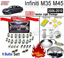 9 Blubs Xenon White LED SMD Interior Light Kit For Infiniti M35 M45 2006-2010