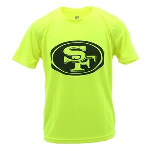 NFL San Francisco 49ers Football YOUTH SIZE100% Polyester Athletic T-Shirt Neon