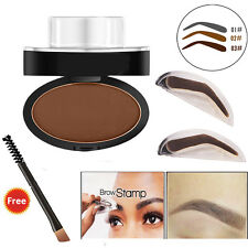 Hot Natural Eyebrow Powder Makeup Brow Stamp Palette Delicated Shadow Definition