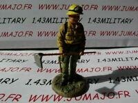 SOLDAT plomb DEL PRADO 1/32 POMPIERS /MONDE USA tenue feu Forestier 2001 n°12