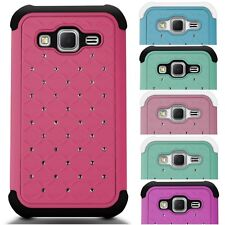Shockproof Cover Diamond Bling Case for Samsung Galaxy Prevail LTE / Core Prime