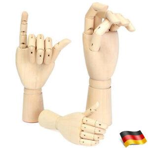 Modellhand Holzhand Holz Hände aus Holz Gliederhand links rechts zur Auswahl DE