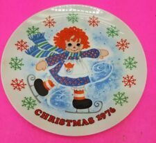 Schmid CHRISTMAS-RAGGEDY ANN Merry Blade Plate 1976 2C