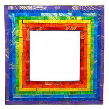 Rainbow Square Mosaic Mirror Fairly Traded From Bali
