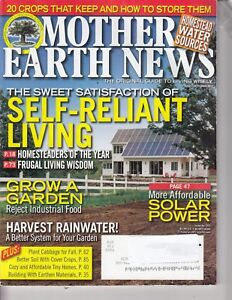 The Mother Earth News Magazine Self Reliant Living August/September 2012 SOLAR