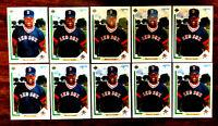 1991 Upper Deck #5 MO VAUGHN ~ 10 CARDS LOT ~ BOSTON RED SOX STAR R00KIE CARD