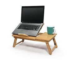 Portable Deluxe Bamboo Laptop Bed Desk Table Foldable Workstation Tray Lap Fold