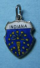 shield sterling charm Vintage Indiana In