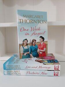 Collection of 3 x Paperback Saga Romance Books Margaret Thornton - One Week NEW