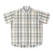 LACOSTE Devanlay Herren Hemd 41 L Kariert Kurzarmhemd Men Shirt Oberteil wie NEU