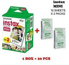 20 Prints - Fujifilm Instax Mini Instant Film Twin Pack 10 sheets per pack