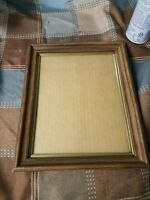 8 X 10 Standing Wood Picture Frame With Goldtone Metal Insert