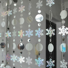 1m Home Snowflake Curtain 3d Christmas Ornaments Xmas Tree Hanging Decoration
