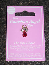 THE ONE I LOVE PIN BROOCH GUARDIAN ANGEL SWAROVSKI CRYSTAL GIFT