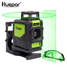 Nivel láser verde profesional autonivelante de 360 Nivelador Huepar 901CG Cruz