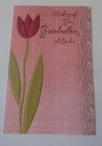 Thinking of You Grandmother at Easter Card with Envelope Freedom Greetings