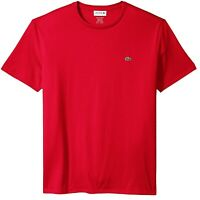 Lacoste Mens T-Shirt Red US Size Big 4X FR 9 Short Sleeve Crewneck Tee $49 244