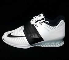 Women's Nike Romaleos 3 White Power Weight Lighting Shoes 878557-100 Size 10