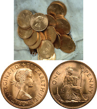 1967 Great Britain Large Penny 50 Coin Lot Uncirculated KM# 897