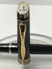 ROLEX WATCH PEN VINTAGE 23KT GOLD PLATED SWISS MADE ROLLERBALL 100% AUTHENTIC