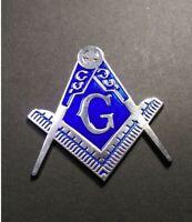 Masonic Freemasonry Blue /& Gilt Sipper Pin Badge