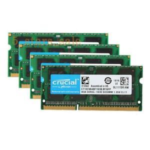 8GB X1 X2 X4 DDR3/3L 1333 1600 1866 MHz 204pin Crucial SODIMM RAM Laptop memory