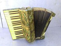 Vintage Retro German Musical Instrument Accordion Hohner