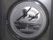 2016 PEARL HARBOR SILVER 1 OZ COIN UNC HIGH GRADE BU COIN WITH PAPER WORK!